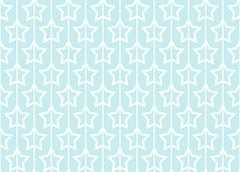 Seamless pattern with stars on blue background. Stock Illustration
