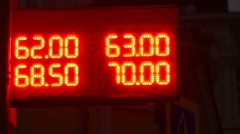 The Exchange Rate For The Ruble in Russia Stock Footage