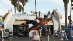 Bodybuilder workout Stock Footage