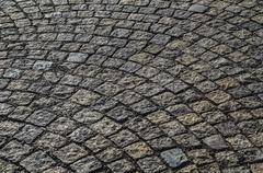 Damp cobble stone - stock photo