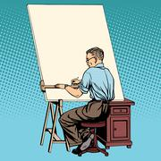 Stock Illustration of Scientist designer asian engineer working drawings