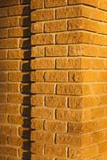 Brick wall with a stripe Stock Photos