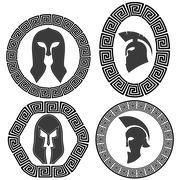 Set of Helmets Piirros