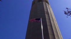 Old Glory at Coit Tower Stock Footage
