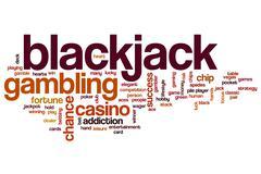 Blackjack word cloud concept Stock Illustration