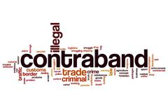 Contraband word cloud concept - stock illustration