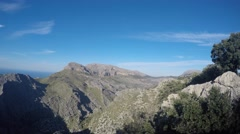 Beautiful view of Tramuntana mountains Stock Footage