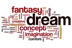 Stock Illustration of Imagination word cloud concept