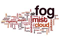Fog word cloud concept Stock Illustration