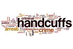 Handcuffs word cloud concept Stock Illustration
