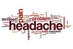 Headache word cloud concept - stock illustration