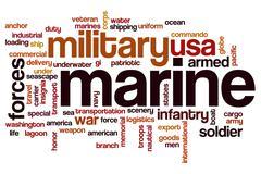 Stock Illustration of Marine word cloud concept