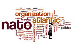 NATO word cloud concept - stock illustration