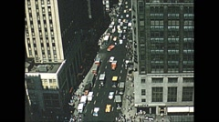 Vintage 16mm film, 1957, America, NYC 20 stories up #1, Macy's below, sequence Stock Footage