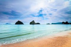 tropical beach in Krabi province - stock photo