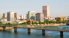 Portland City SW Downtown Stock Footage