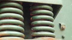 Industrial Machine Springs Bouncing Stock Footage