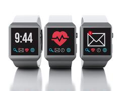 3d smart watches. Technology concept Piirros