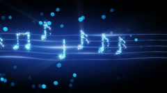Musical notes from fireworks loopable animation 4k (4096x2304) Stock Footage