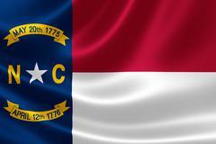 North Carolina State Flag - stock illustration