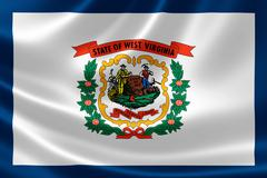 State of West Virginia Flag Stock Illustration