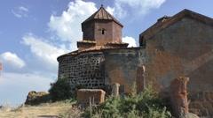 Stock Video Footage of Hayravank monastery near the lake of Sevan, Armenia
