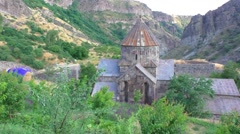 Stock Video Footage of the old monastery Gndevank in Armenia, province Vayots Dzor