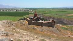 Khor Virap, the monastery not far from the legendary Ararat - stock footage