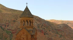 Stock Video Footage of Monastery Noravank, one of the most famous monasteries in Armenia