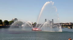 Portland City Fireboat Stock Footage