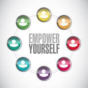 Empower Yourself connections sign concept - stock illustration