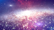 Stock Video Footage of 4K Galaxy Space Ride Slow Version