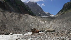 Glacier valley in svaneti Landscape Stock Footage