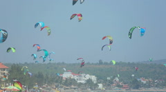 Kites flying in the sky Stock Footage