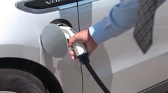 Charging an Electric Car Stock Footage