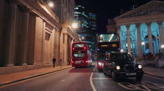 London Bank of England Night Scene - stock footage