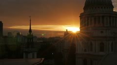 St Pauls Cathedral Sunset Wide Small Aperture - stock footage