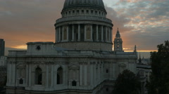 St Pauls Cathedral Sunset Wide - stock footage