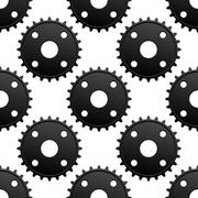Paatern of black gears with frequent cogs Piirros