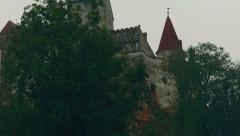 Transylvania Dracula Castle in Bran Close-up - stock footage