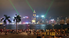 Hong Kong light show Stock Footage