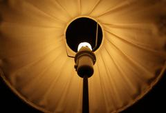Abstract symmetrical shot of a lamp shade - stock photo