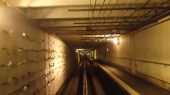 Take a ride through old-looking rail tunnel  Stock Footage