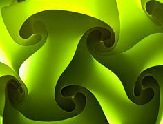 Abstract green background with interlaced plastic tiles Stock Illustration