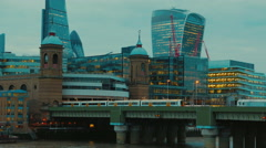 Blackfriars Bridge and the City Timelapse Stock Footage