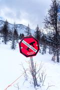 Avalanche Danger Stock Photos