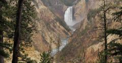 Yellowstone upper falls waterfall Stock Footage