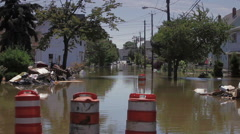 Flooded Rural Streets after a Hurricane - stock footage