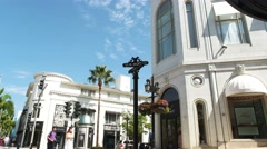Rodeo drive los angeles Stock Footage