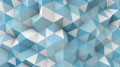 blue polygonal 3D geometric surface seamless loop - stock footage